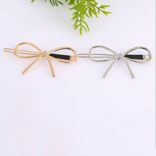 New Vintage Hairpins Metal Bow Hair Barrettes Girls Hair Accessories Hairgrips-G