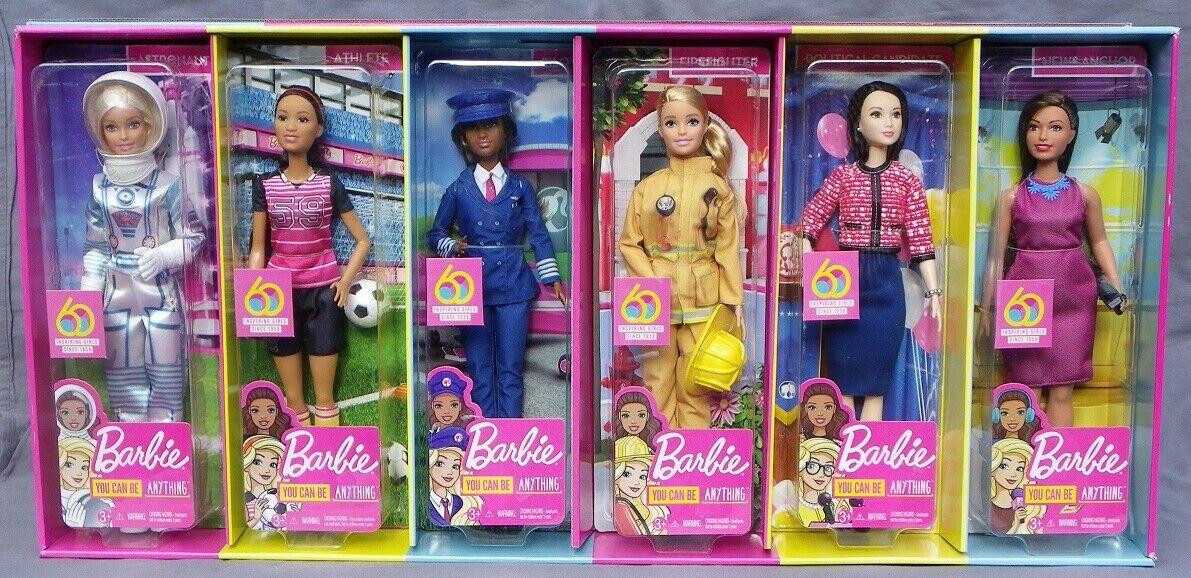 Barbie Bündel Carrers 2019 Mattel GNR88 Astronaut Pilot Feuerwehrmann Reporter