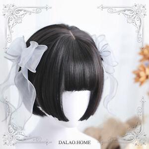 Black Elegant Harajuku Gothic Gradient Lolita Mixed Lolita Wig Short