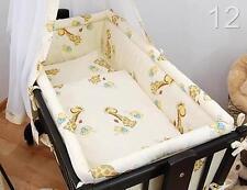 Baby Crib Bumper Fits Nursery Rocking/Swinging Crib - Giraffes Cream