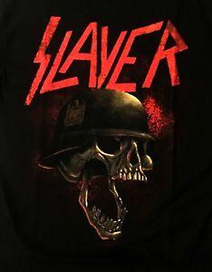 SLAYER-cd-lgo-HELLMITT-HELMET-SOLDIER-SKULL-Official-SHIRT-new