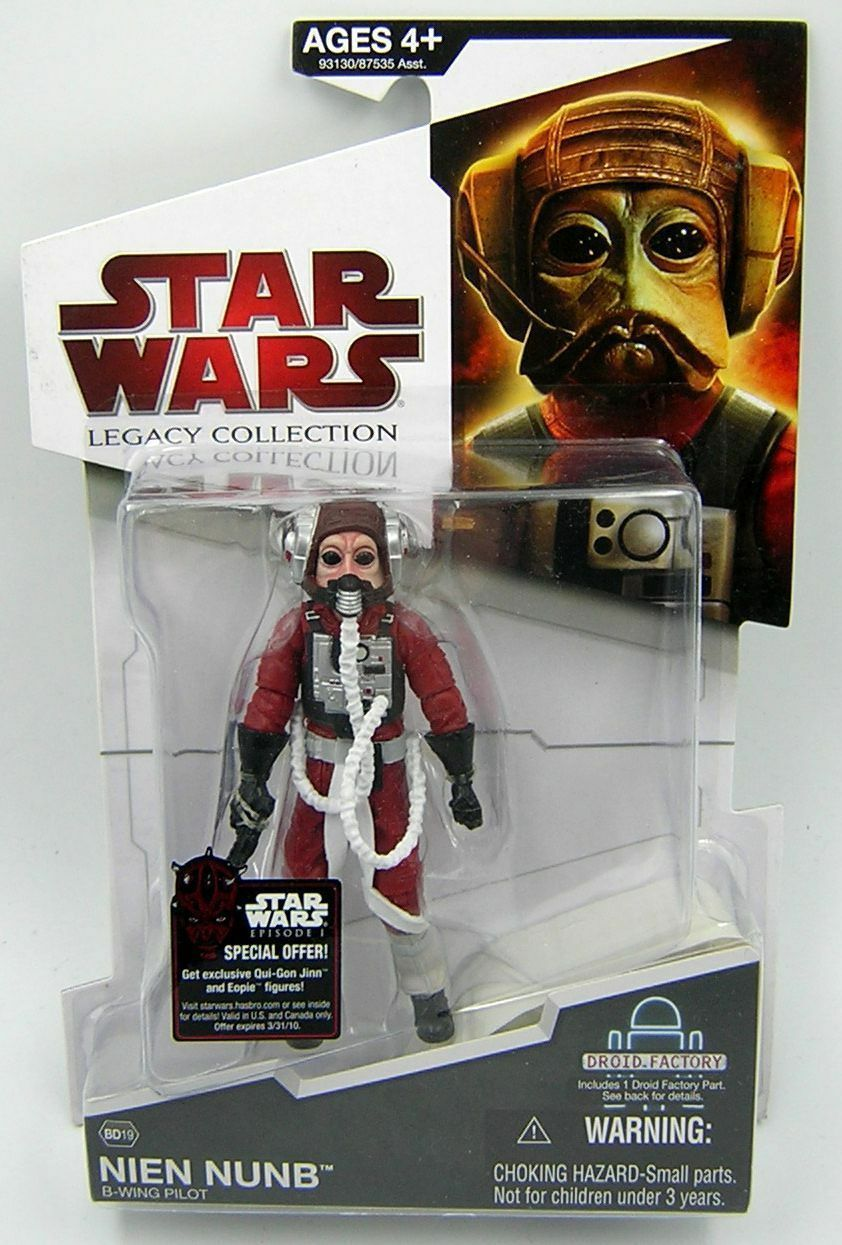 Star Wars Legacy Collection BD19 Nien Nunb ( B-Wing Pilot )