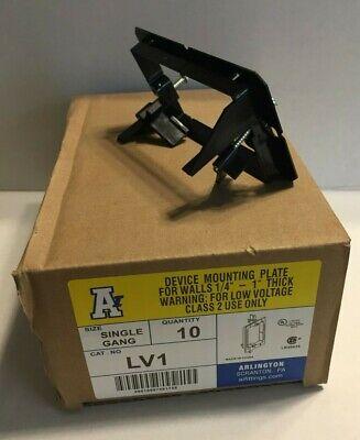 Box of 10 Arlington Catalog # LV1 Single Gang Low Voltage Old Work Mount Plate for sale online