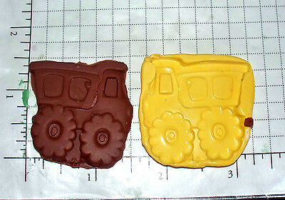 Dump Truck p -Flexible Push Silicone Mold-Candy Cookie Crafts Cupcake top Resin