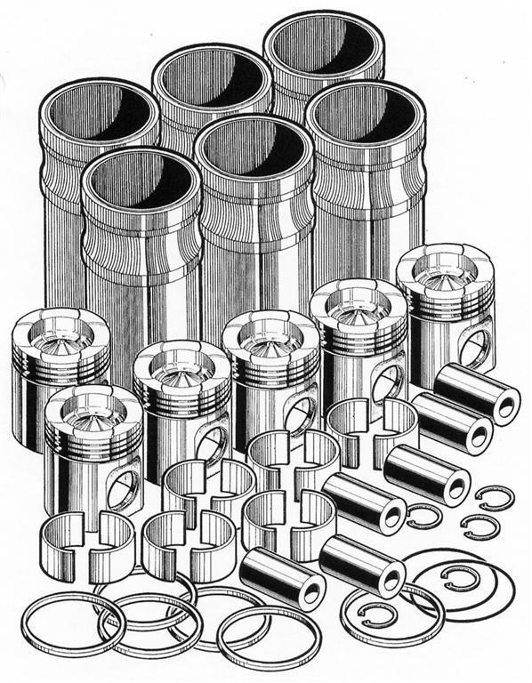 In Frame Engine Overhaul Rebuild Kit For Caterpillar C15 Pai