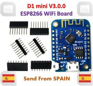 Details about D1 mini V3 0 0 WIFI IoT Development Board ESP8266 4MB  MicroPython NodeMCU WEMOS