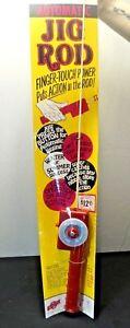 VINTAGE-NOS-BAIT-STORE-Twerp-039-s-1970-Ice-Fishing-Rod-amp-Reel-Twerp-039-s-Decoy-Lure