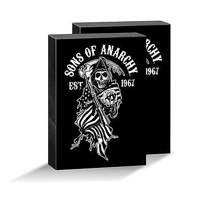 1 x SOA Sons Of Anarchy Image Picture Framed Canvas Man Cave Christmas Gift