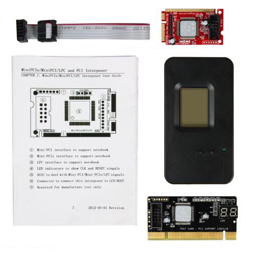 Laptop Mini PCIe PCI LPC 3-in-1 Interposer Diagnostic Debug Card LPC USB cable