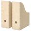 IKEA KNUFF Zeitschriftensammler 2 Stück SET Sperrholz Stehsammler