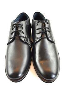 Details zu Bugatti Herren Business Schuhe Leder Schwarz in der Gr. 43