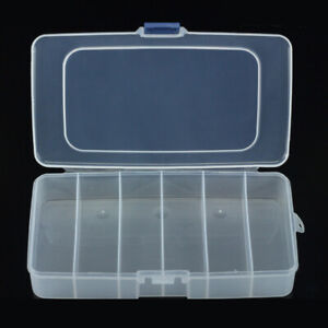 6 Compartments Plastic Storage Box Jewelry Bead Screw Organizer