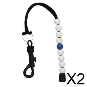 2X Golfschlagperlenkornstandzählwerkzeug Armband Golfzusatz blau