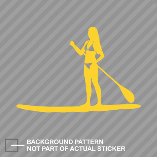 Girl Paddleboarding Sticker Decal Vinyl surf paddle board woman