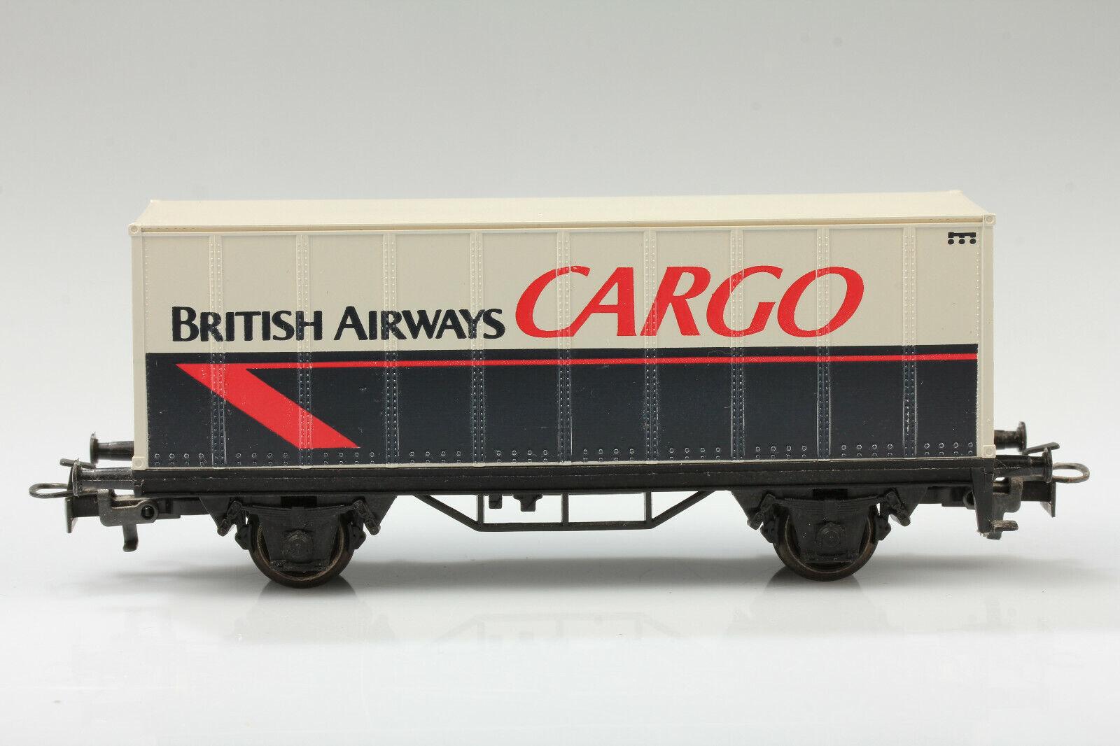 H0 Märklin Vagone per Container British Airways Cargo Sporco Graffi senza Ovp