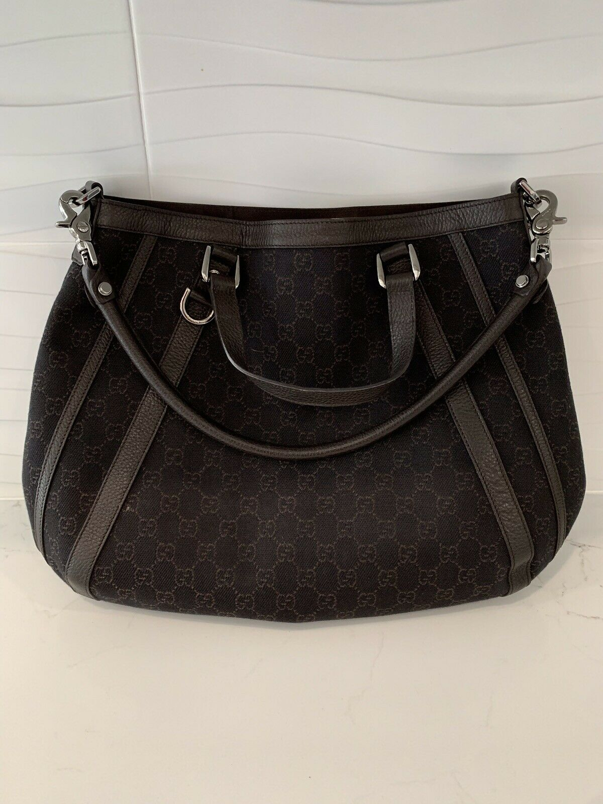Rare VINTAGE 90s Authentic Gucci Leather Bag For … - image 1