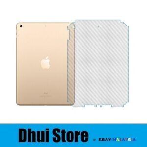 Apple iPad Pro 12.9 2021 - 3D Transparent Carbon Fiber Back Rear Protective Film