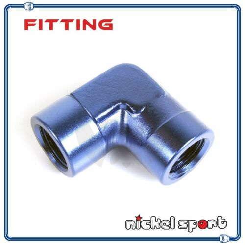 "1//4/""NPT 90° Female to Female Elbow Aluminum Fitting Adapter"