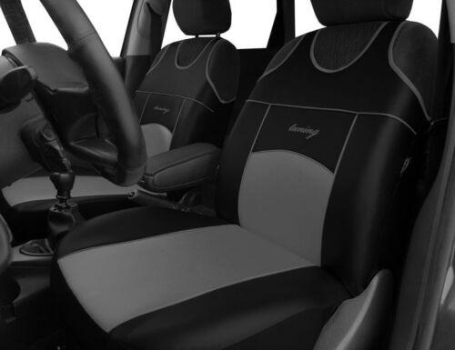 2 Eco Cuero asiento delantero cubre para Fiat 500 500X 500L