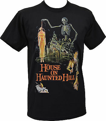 MENS BLACK T-SHIRT HOUSE ON HAUNTED HILL VINCENT PRICE B-MOVIE SCI-FI S-5XL