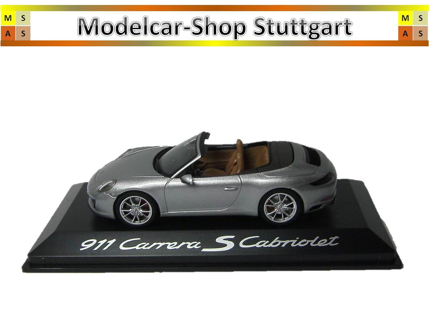 Porsche 911 Carrera S Cabriolet silber 2015 Herpa 1 43 WAP0201260G neu