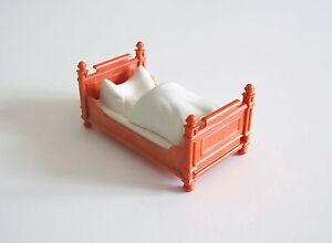 Détails sur PLAYMOBIL (J2120) EPOQUE 1900 - Lit Orange Couverture Blanche  Chambre Parents