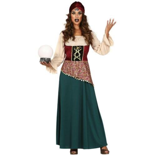 Women/'s Fortune Teller Gypsy Girl Esmeralda Fancy Dress Costume