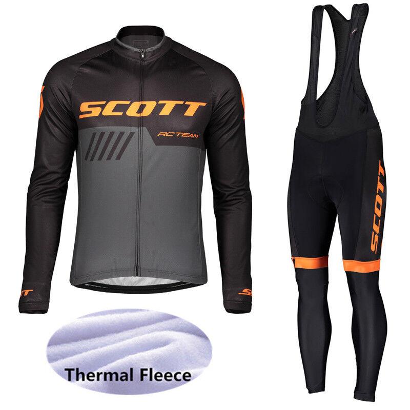 2019  winter men cycling clothes thermal fleece bike jersey bicycle bib pants set  exclusive designs
