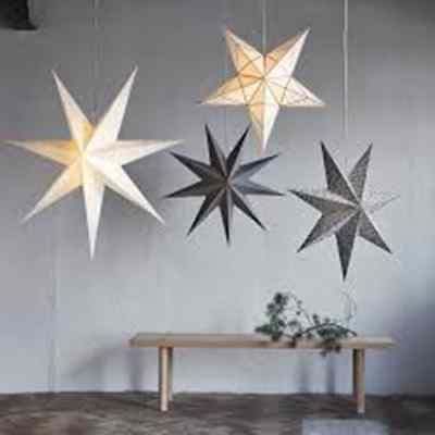 IKEA STRALA Star Shaped, White Table decoration w LED light