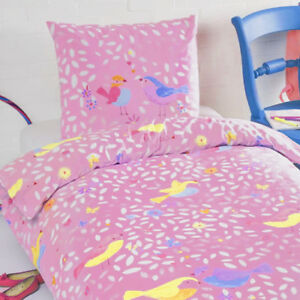 Children S 100 Cotton Duvet Cover Set Pink Birds Girls