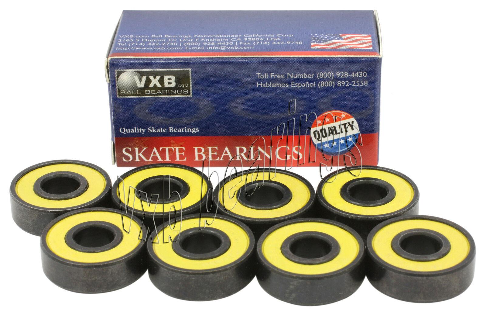 VXB Quality Set 8 Skateboard Sealed Ball Bearing