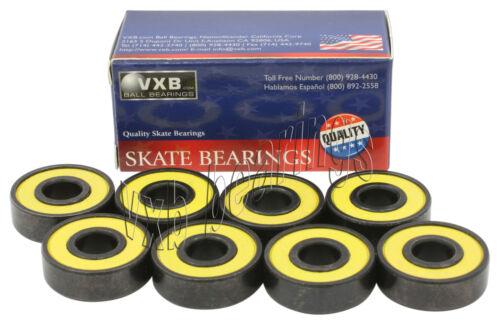 8 Long Board Sealed Bearing Black  Ball Bearings