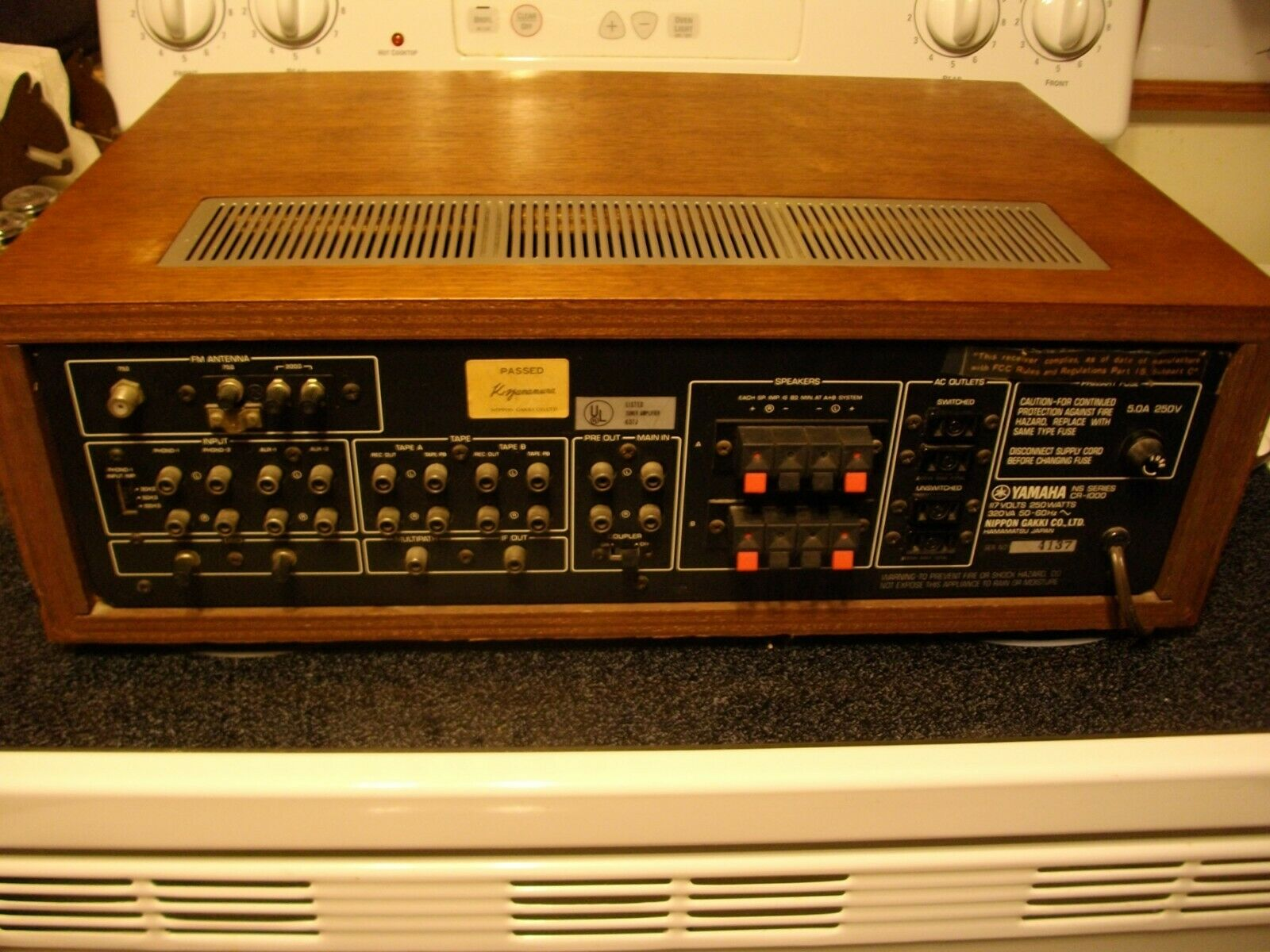VINTAGE MONSTER YAMAHA CR-1000 Natural Sound FM Stereo Receiver 1977/$850  L@@K!!