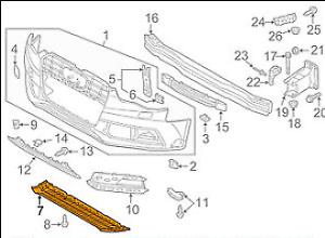 AUDI-A5-8-T-Cubierta-De-Proteccion-Inferior-Parachoques-Delantero-8T0807611-Nuevo-Original