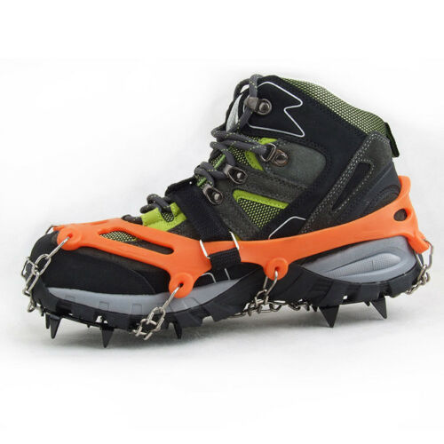 Ice Snow Chain Crampons Boot Shoe Cover Spike Gripper Non-slip 12 Spikes