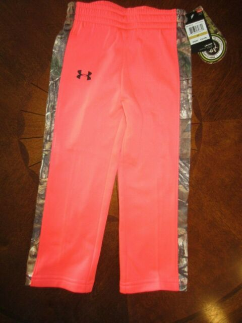 NWT Under Armour Little Girl/'s 4 5 6X Realtree Camo Pants 26B25501 Pink Chroma