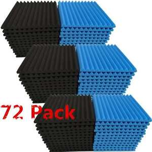 72-Pack-Acoustic-Foam-Panel-Wedge-Studio-Soundproofing-1-034-X-12-034-X-12-034-Wall-Tiles