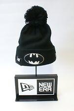 New Era Knit Bobble DC Comics Batman Logo Black Beanie Wooly One Size Fitted Hat
