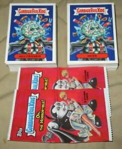 COMPLETE SET 200 CARDS WRAPPER GPK 2018 GARBAGE PAIL KIDS OH THE HORROR-IBLE