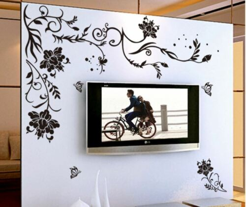 US STOCK Removable Wall Sticker Flower Vine Decal Mural Living Room Lobby Bedroo