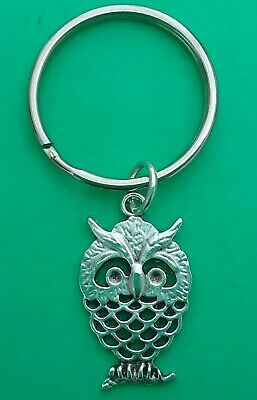Orange Birthday Gift//Present. Silver Tibetan Bookmark with Cute Owl