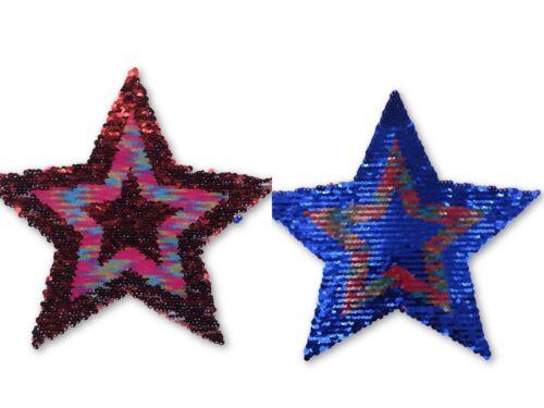 Wendepailletten XL-Patch Aufnäher Applikation Stern