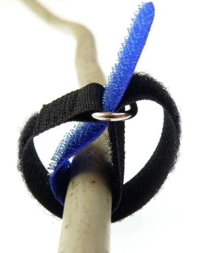 50 Klett Kabelbinder 16cm x 16 mm in 5 verschiedenen Farben Kabel Klettband Öse