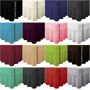Plain-Dyed-Fitted-Valance-Sheet-Poly-Cotton-Bed-Sheet-Single-Double-amp-King-Sizes