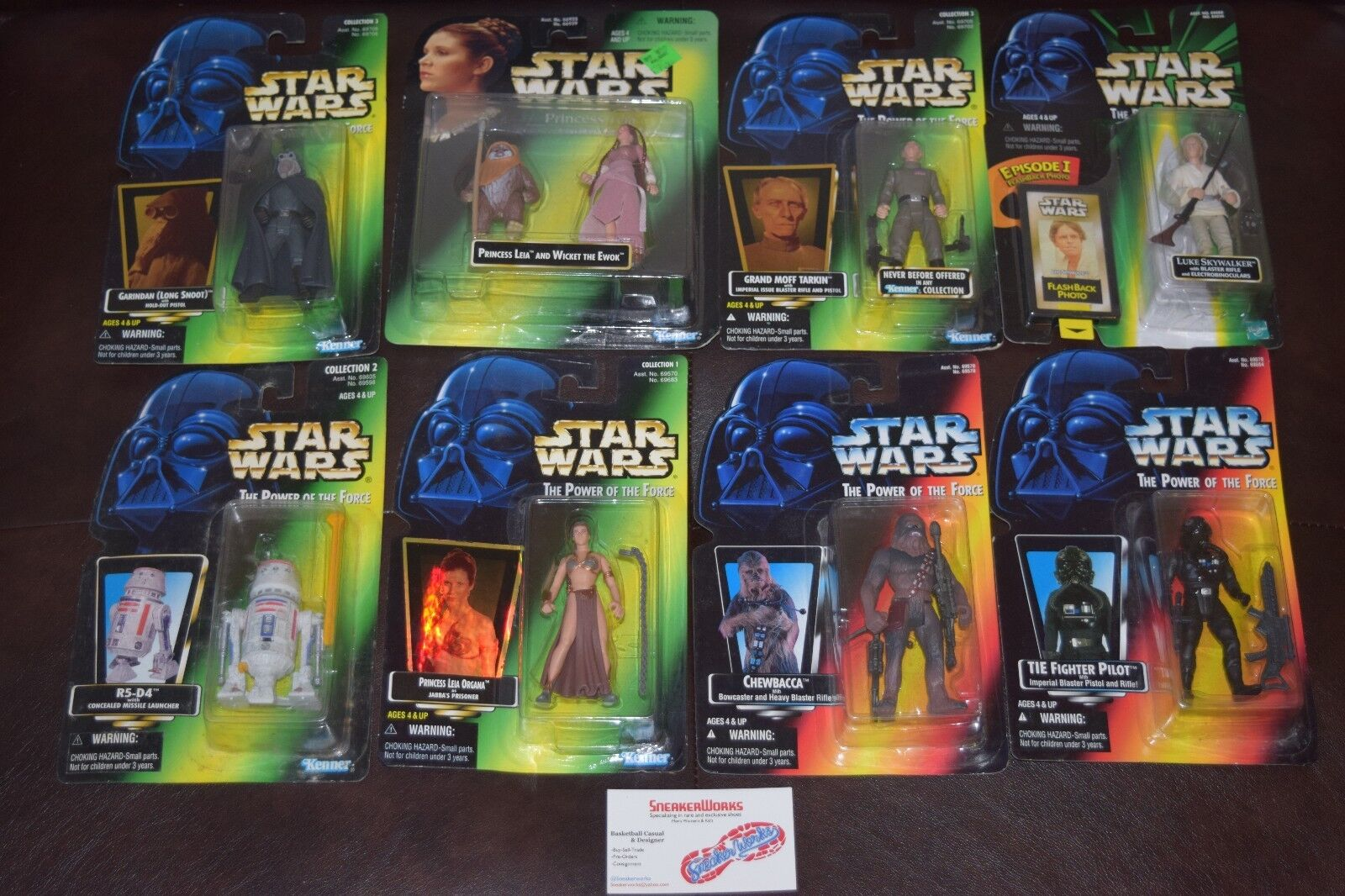 New Star Wars Kenner Action Figure 8p Lot Power of the Force 1996 1997 Luke