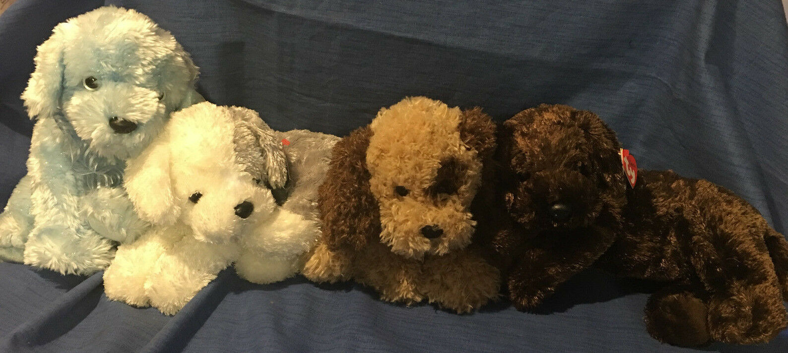 W-f-l Ty Beanie Classic Dog Selection M - Z Size 24 - 55 cm HUSKY LABRADOR DOGS