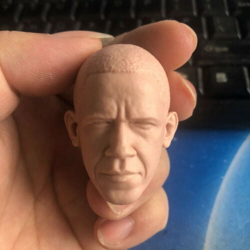 """Blank Hot 1//6 Scale Black Americans Obama Head Sculpt Unpainted Fit 12/"""" Body"""