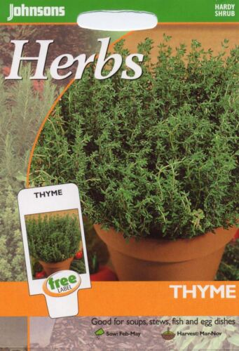 1000 Seeds Pictorial Pack Johnsons Seeds Thyme Herb