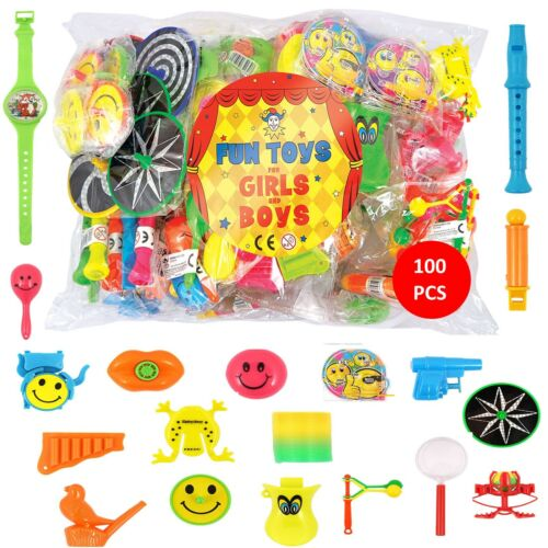 100 Assorted Party Bag Toys  Kids School Gift Party Pinata Fillers Toys Children