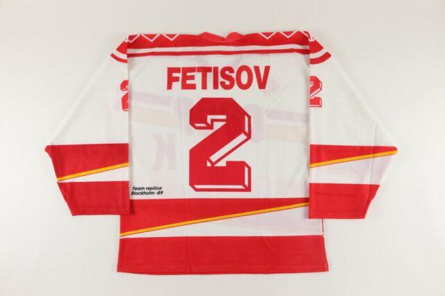 1989 VIACHESLAV FETISOV Hockey World Championships Replica CCCP Tackla Jersey